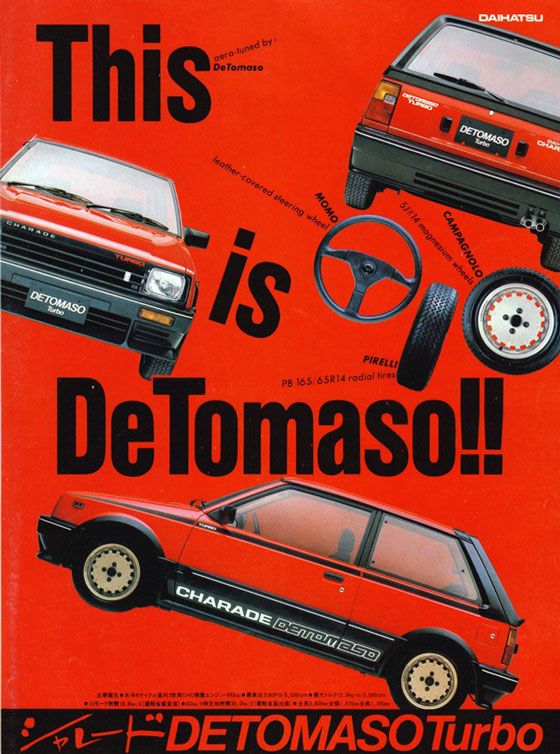 This is Daihatsu Charade De Tomaso Turbo!