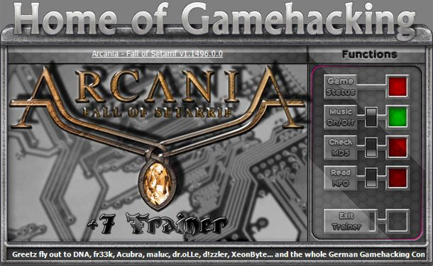 ArcaniA: Fall of Setariff v1.1496.0.0 +7 Trainer [HoG]