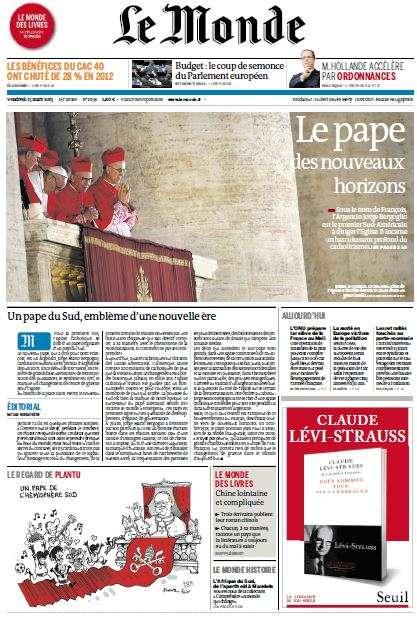 Le Monde du Vendredi 15 Mars 2013
