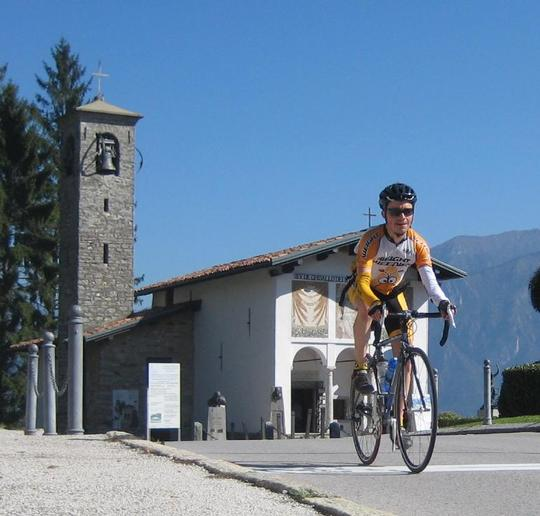 summiting Ghisallo (staged)