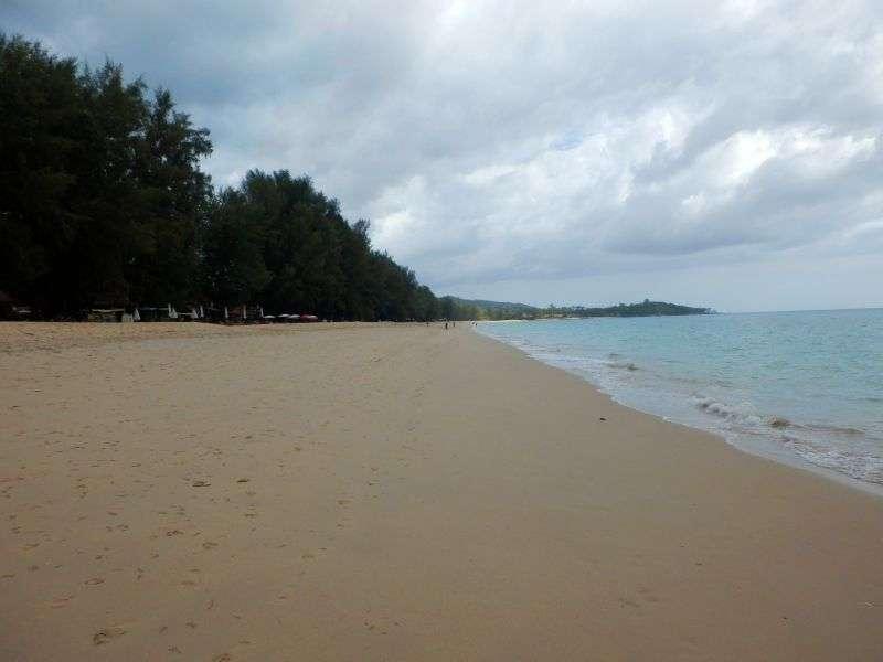 der Strand in südlicher Richtung