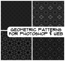 Black Geometric Pattern
