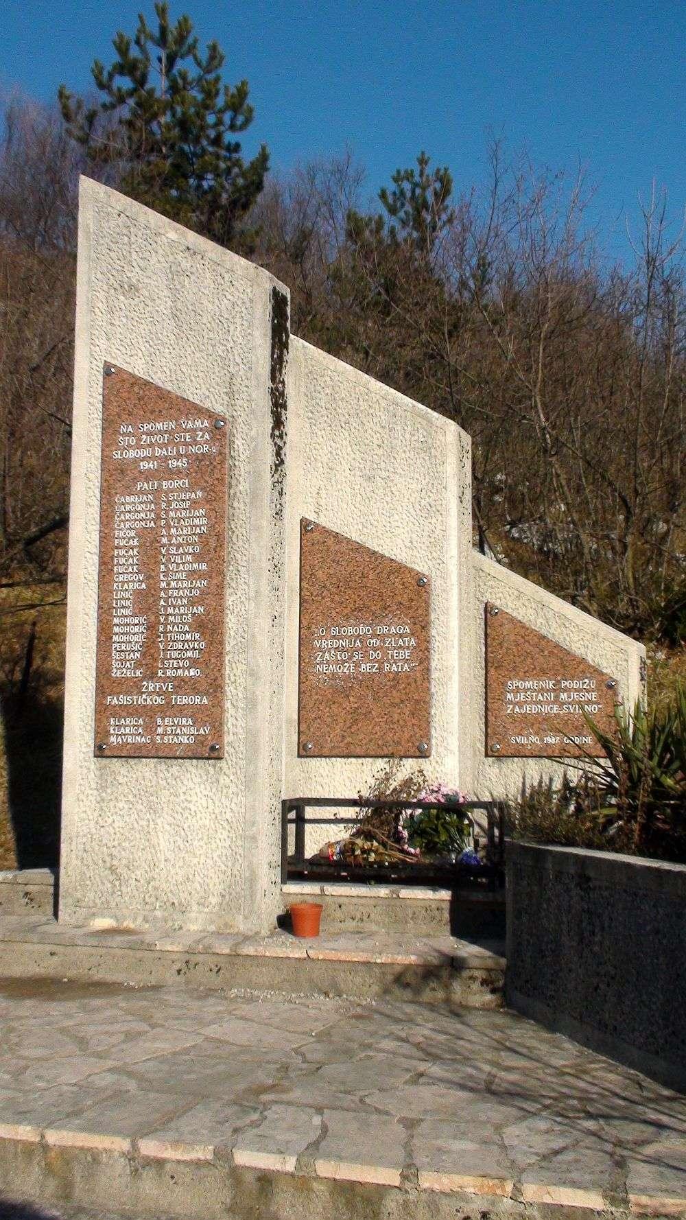 antifašistički spomenik Svilno